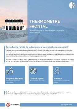 image de la documentation thermomètre frontal covid-19