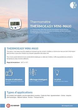image de la documentation thermometre thermoeasy mini maxi