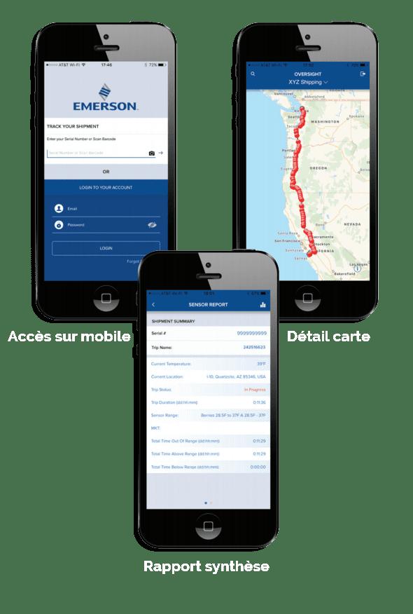 exemple de la plateforme oversight sur mobile