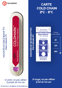image de la carte double indicateur de température Coldchain