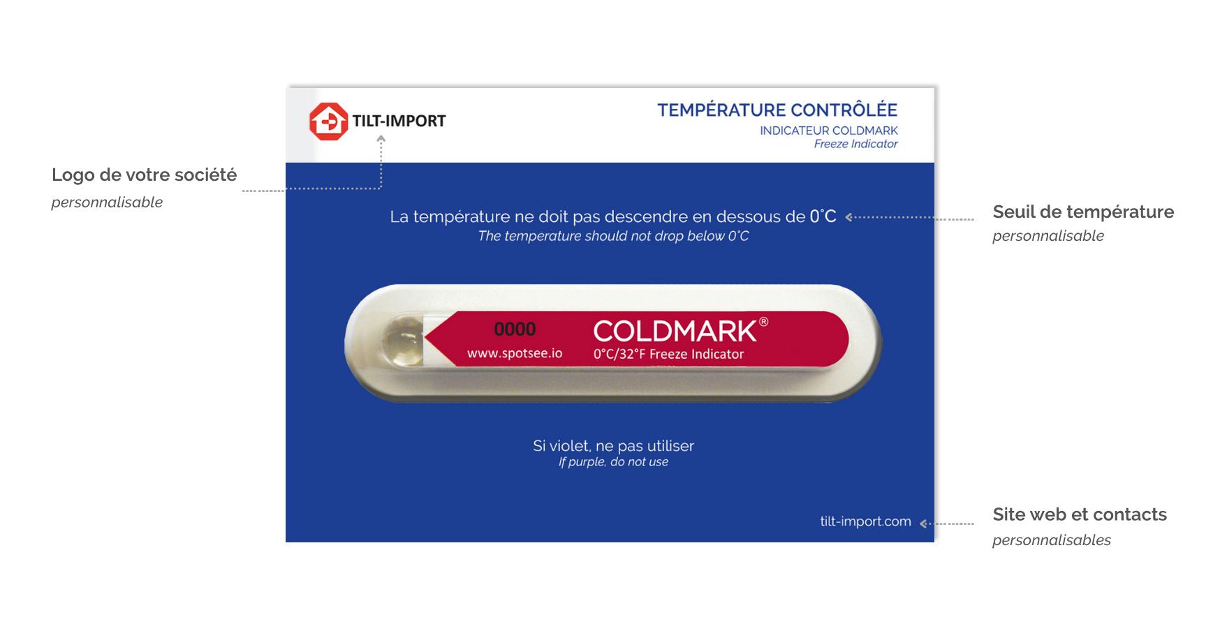 image de la carte d'accompagnement de l'indicateur de gel coldmark personnalisée